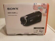 SONY HDR-CX240 (Blue) Full HD 1080p Camcorder 9.2MP 27x Optical Zoom Video - MIB
