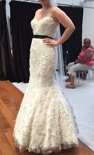 LAZARO Wedding Dress DESIGNER SAMPLE Trumpet Mermaid Tulle Style #3254