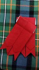 Distintivo de Calcetín Kilt Color Rojo / Highland Bandas Liso / Atuendo