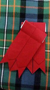 Kilt Hose Sock Flashes Red Color/Highland Kilt Flashes Plain Red/Highland Wear