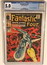 Fantastic Four #72, CGC 5.0, SILVER SURFER/WATCHER! STAN LEE! JACK KIRBY!