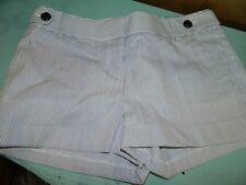 Express Women's Shorts Size 6 Mini Pin Stripe Blue White Shorts
