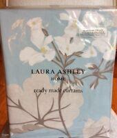 """Laura Ashley Millwood Curtains Duck Egg / Blue - 64"""" W x 54""""L / 162 x 137cm NEW"""
