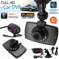 """Dual Lens 1080P 2.7"""" Full G-sensor Car Camera Video Recorder Dash Cam Crashcam"""