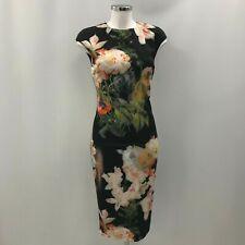 New Ted Baker Dress Ladies UK10 Size2 Black Formal Pencil Work Sleeveless 330884