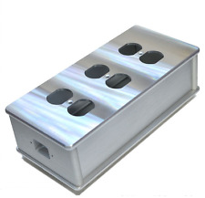 HIFI 6 outlet US AC Power Strip Bar distributor box aluminum chassis