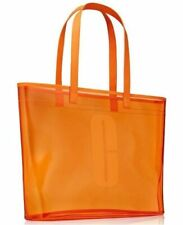 CLINIQUE HOLIDAY LARGE CLEAR ORANGE BEACH SPORTING EVENT TOTE BAG New