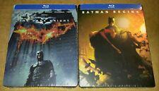 New Batman Begins + The Dark Knight Blu-ray Steelbook™ DC Universe USA Sealed