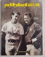 OAKLAND A's ATHLETICS MAY 1991 MAGAZINE SCORECARD UNSCORED McGWIRE CANSECO
