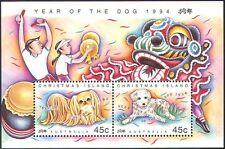 ISOLA di Natale 1994 YO DOG/Saluti/Animali/Lunar Zodiac/Fortuna 2 V M/S (b5115)