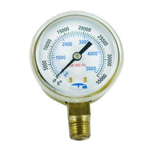 PMC GC-36 Regulator Pressure Gauge for air pressure 0 – 4000 psi 0 – 28000 KPa