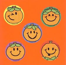 10 Jack-O-Lantern Pumpkin Faces - Large Stickers - Party Favors - Halloween