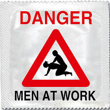 DANGER MEN AT WORK FUNNY NOVELTY CONDOM CONDOMS HEN STAG NIGHT PARTY CE FDA ISO