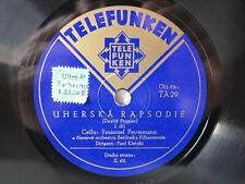 78rpm FEUERMANN & KLETZKI - Hungarian Rhapsody (Popper) - CZECH TELEFUNKEN