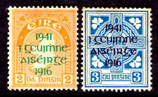 IRELAND #118-119, 1941 OVERPRINT SET/2, F-VF, OG-NH