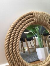 Handmade Nautical Hampton Style Rope Round Mirror Home Decor 41CM