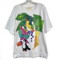 Vintage 90s Tigre Lis Womens Size Small/Medium Blouse T-Shirt Single Stitch