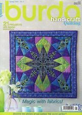 Burda Style Handicraft Quilting Magazine #1 Spring 2015 MAGIC WITH FABRICS