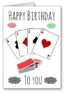 Poker Card Games Card Happy Birthday To you