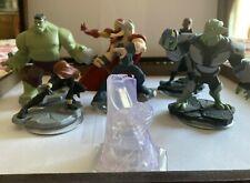 Lot of 6 Disney Infinity Figures 2.0 Marvel Iron Man, Thor, Black Widow, Hulk