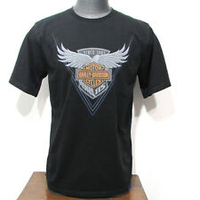 Harley Davidson 115th Anniversary Mens Wing Graphic Tee T Shirt Large Black