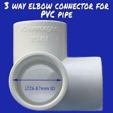 3 Way elbow connector - 20mm