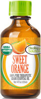 Organic Sweet Orange Essential Oil (100% Pure - USDA Certified Organic)