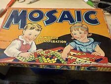 Vintage 1936 MOSAIC Design Game by Transogram Co A Gold Medal Toy Very Good