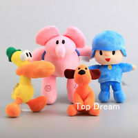 Cartoon Pocoyo Friends Elly Loula Pato Plush Doll Stuffed Animal Toy Xmas Gift