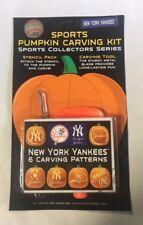 New York Yankees Pumpkin Carving Kit Halloween Stencils for Jack-O-Lantern
