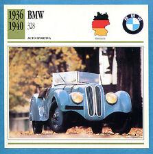 SCHEDA TECNICA AUTO DA COLLEZIONE - BMW 328 1936-1940