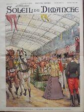 L'ILLUSTRE DU SOLEIL DU DIMANCHE 1898 N 16 AU CONCOURS HIPPIQUE.