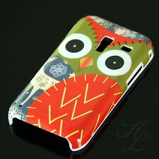 Samsung Galaxy Ace Plus S7500 Hard Handy Case Hülle Schale Etui Eule Rot Owl