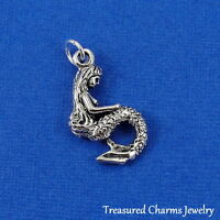 Silver MERMAID CHARM Ocean Sea FISH Nautical PENDANT