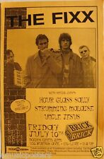 THE FIXX 1998 SAN DIEGO CONCERT TOUR POSTER