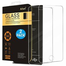 2 PACK Anti-Scratch Tempered Glass Screen Protector For iPhone 5/5S/5C/SE