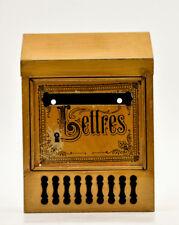 Boîte lettres métal courrier postes Nouvelles Galeries début XXème old mailbox