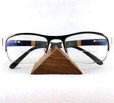 Triangle Eyeglasses Holder Rack Wood Stand Organizer Sunglasses Showing Display