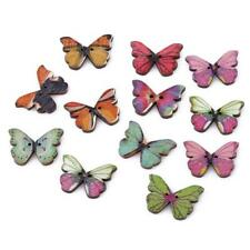 Big Retro Butterfly Wood Wooden Sewing Button Craft Scrapbooking 50Pcs J