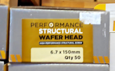 PERFORMANCE STRUCTURAL WAFER HEAD SCREWS 6.7x150mm