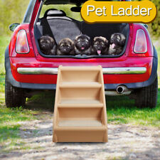 Folding Pet Stairs for Small Dog Puppy 4 steps Ladder Ramp Indoor for High Bed