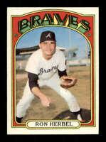 1972 Topps #469 Ron Herbel NM/NM+ Braves 506745