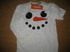 NWT Gymboree Holiday Shop size 5T White Snowman Shirt Top