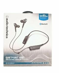 Audio Technica Earbuds Bluetooth w/ Mic ATHANC40BT Wireless Noise Cancellation