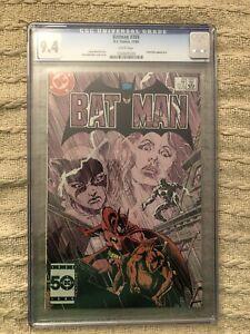 CGC 9.4 Batman 389 DC 1985 White Pages Tom Mandrake Cover & Art.