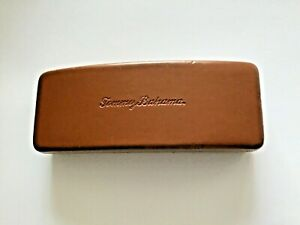 Tommy Bahama Eyeglass/Sunglass Brown Woven Leather Case Only optical storage