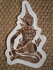 Antique asiatique en Relief Imprimé-Traditionnel Thaïlande Costume/instrument de musique