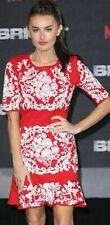 "Comino Couture Red ""Cola Cube""Peplum Bottom Mindi Dress Uk10 S BNWT Bloggers FAB"
