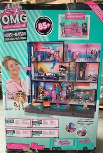 New, LOL Surprise OMG House Real Wood Doll House With 85 Surprises Ages 8+. New