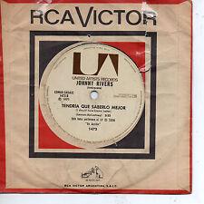 "JOHNNY RIVERS Tendria Que Saberlo Mejor / Oh, Mujer Bonita, SG 7"" ARGENTINA 1971"